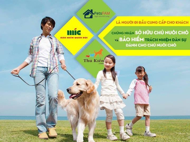 TẶNG 1 NĂM Bảo hiểm trách nhiệm dân sự đối với chủ nuôi chó
